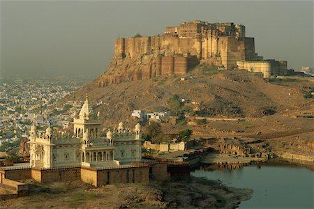 Jaswant Thada and Meherangarh Fort, Jodphur, Rajasthan, India Stock Photo - Rights-Managed, Code: 700-00556258