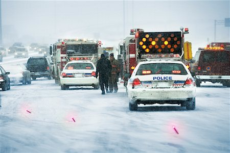 Accident Scene, Gardener Expressway, Toronto, Ontario, Canada Stock Photo - Rights-Managed, Code: 700-00557680