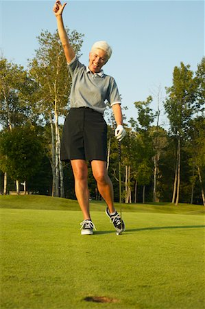 peter griffith - Woman Golfing Stock Photo - Rights-Managed, Code: 700-00550095