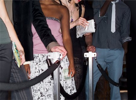 queue club - People Waiting In Line-up For Nightclub Stock Photo - Rights-Managed, Code: 700-00551315