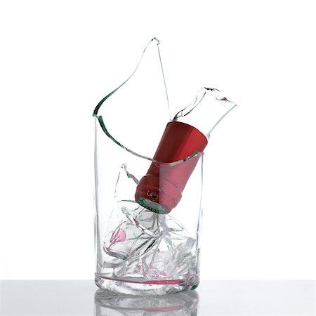 Broken Wine Bottle Stock Photo - Rights-Managed, Code: 700-00552495