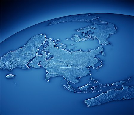 World Map Showing Asia and Pacific Rim Stock Photo - Rights-Managed, Code: 700-00553858