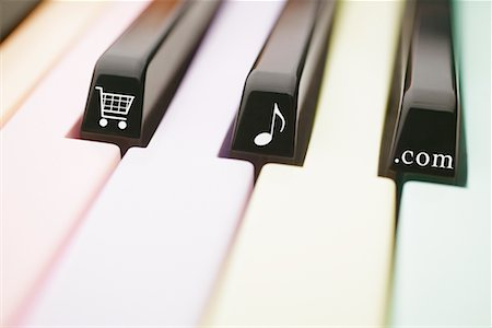 Piano Keyboard with Symbols Stock Photo - Rights-Managed, Code: 700-00553920
