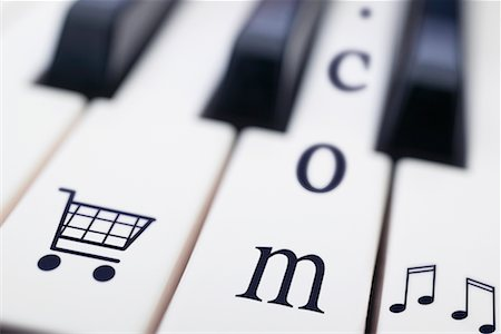 Piano Keyboard with Symbols Stock Photo - Rights-Managed, Code: 700-00553923