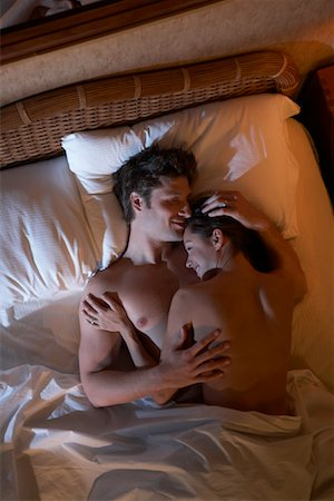 Couple in Bed Stock Photo - Rights-Managed, Code: 700-00561146