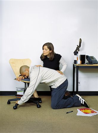 Woman Coaching Man on Childbirth Stock Photo - Rights-Managed, Code: 700-00588982