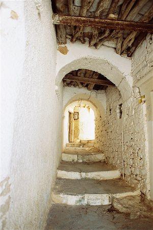 Passageway, Apiranthos, Naxos, Greece Stock Photo - Rights-Managed, Code: 700-00590759