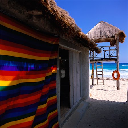 Lifeguard Station on the Beach, Cozumel, Quintana Roo, Mexico Stock Photo - Rights-Managed, Code: 700-00593016