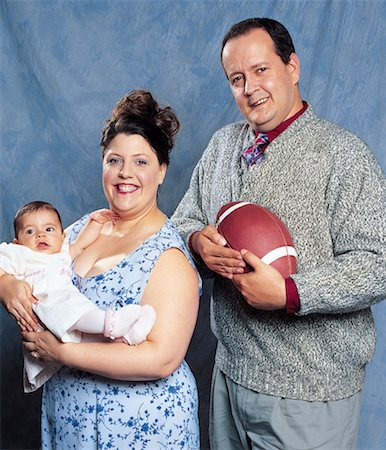 fat man balls - Family Portrait Stock Photo - Rights-Managed, Code: 700-00593172
