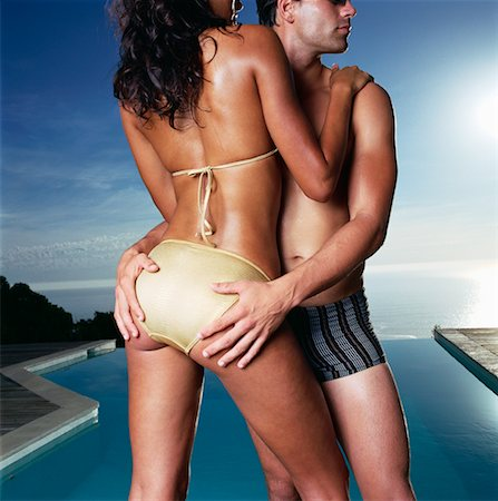 Portrait of Couple in Swimwear Stock Photo - Rights-Managed, Code: 700-00604984