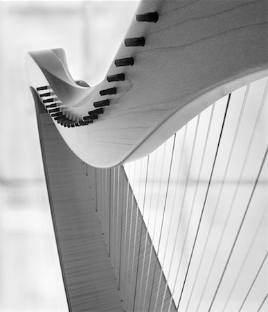 Close-Up of Harp Stock Photo - Rights-Managed, Code: 700-00607049