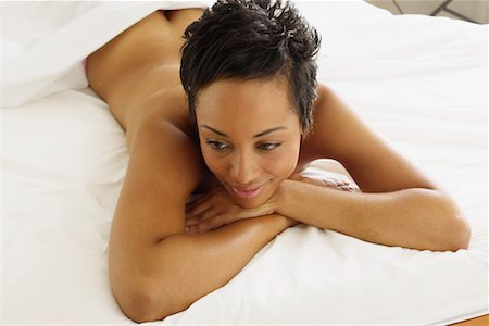 Nude Woman In Bed Stock Photo - Rights-Managed, Code: 700-00607199