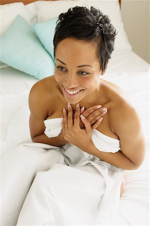 Nude Woman In Bed Stock Photo - Rights-Managed, Code: 700-00607201