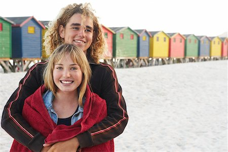 Portrait of Couple at the Beach Stock Photo - Rights-Managed, Code: 700-00617638