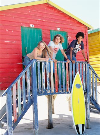 Friends at Beach Hut Stock Photo - Rights-Managed, Code: 700-00623335