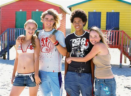 Portrait Of Friends On The Beach Stock Photo - Rights-Managed, Code: 700-00623346