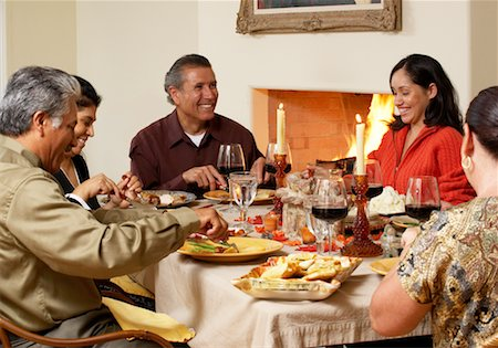 Family at Thanksgiving Dinner Stock Photo - Rights-Managed, Code: 700-00623530