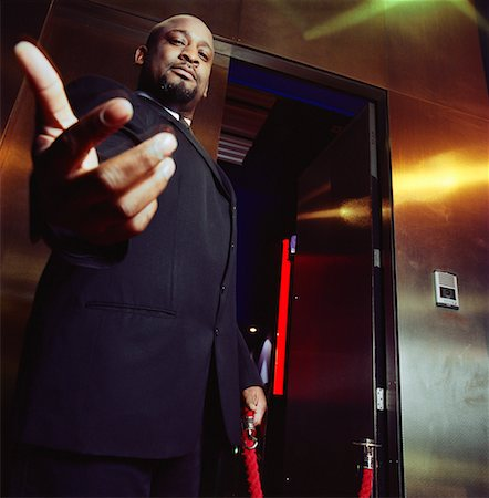 Portrait of Bouncer Stock Photo - Rights-Managed, Code: 700-00634115