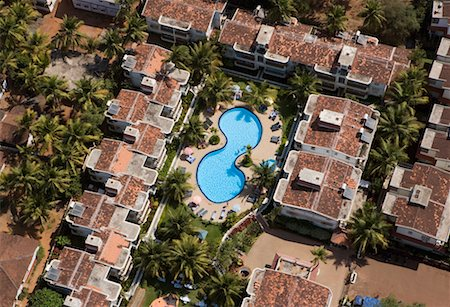 david zimmerman - Aerial of Resort with Swimming Pool, Goa, India Stock Photo - Rights-Managed, Code: 700-00635336