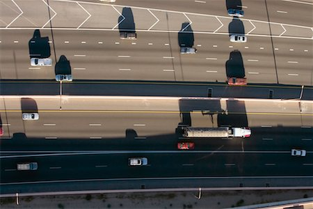 david zimmerman - Aerial View of Traffic Stock Photo - Rights-Managed, Code: 700-00635448