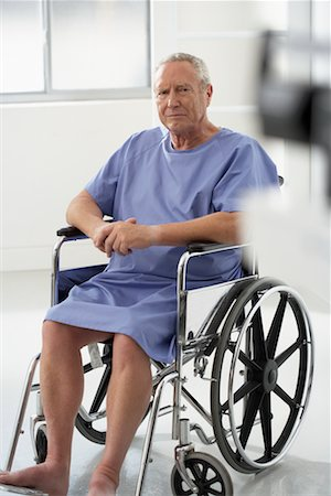 Portrait of Man in Wheelchair Stock Photo - Rights-Managed, Code: 700-00639376