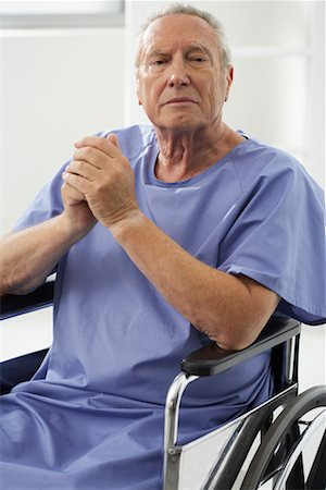 Portrait of Man in Wheelchair Stock Photo - Rights-Managed, Code: 700-00639379