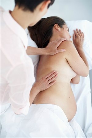Pregnant Woman Getting Massage Stock Photo - Rights-Managed, Code: 700-00639481