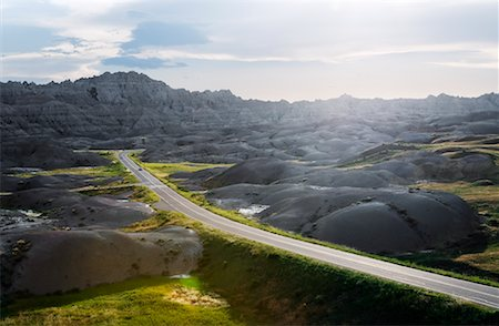 david zimmerman - Road in Badlands National Park, South Dakota, USA Stock Photo - Rights-Managed, Code: 700-00644286