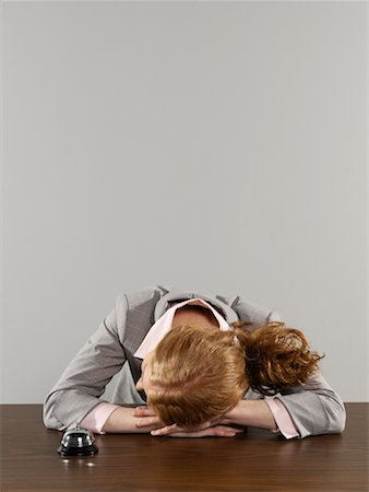 Businesswoman Sleeping Stock Photo - Rights-Managed, Code: 700-00659402