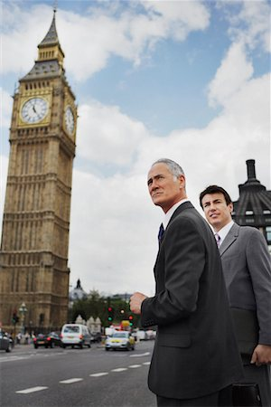 Businessmen Standing on Westminster Bridge, London, England Stock Photo - Rights-Managed, Code: 700-00651757