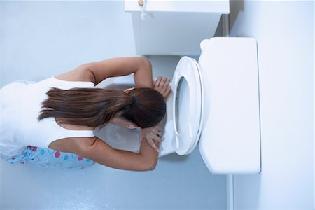 Woman Vomiting Stock Photo - Rights-Managed, Code: 700-00661131