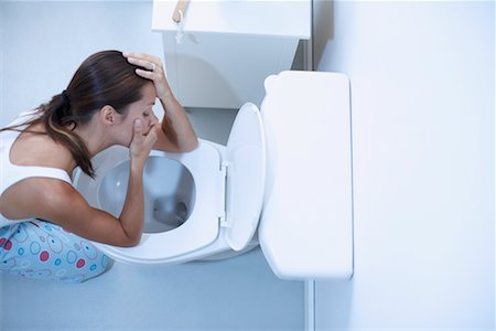 Woman Vomiting Stock Photo - Rights-Managed, Code: 700-00661132