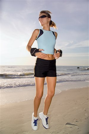 Woman Exercising at Beach Stock Photo - Rights-Managed, Code: 700-00688715