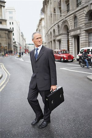 Businessman Crossing Street Stock Photo - Rights-Managed, Code: 700-00680925