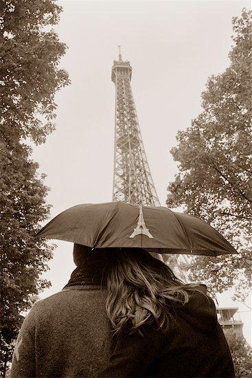 Couple at Eiffel Tower, Paris, France Stock Photo - Premium Rights-Managed, Artist: Leanne Pedersen, Image code: 700-00681003