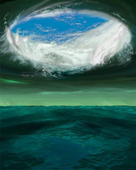 Eye of a Hurricane Stock Photo - Premium Rights-Managed, Artist: Rick Fischer, Image code: 700-00681142