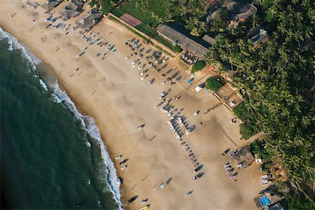 david zimmerman - Aerial View of Beach Resort, Goa, India Stock Photo - Rights-Managed, Code: 700-00683184