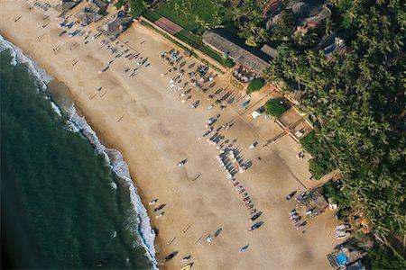 david zimmerman - Aerial View of Beach Resort, Goa, India Stock Photo - Rights-Managed, Code: 700-00683184