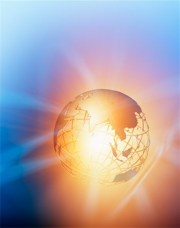 Glowing Wire Frame Globe Stock Photo - Rights-Managed, Code: 700-00712075