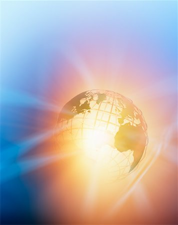 Glowing Wire Frame Globe Stock Photo - Rights-Managed, Code: 700-00712076