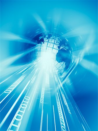 Wire Frame Globe and Binary Stock Photo - Rights-Managed, Code: 700-00712077