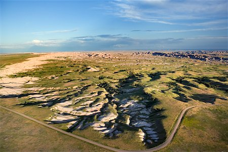 david zimmerman - Erosion Patterns and Road, Badlands, South Dakota,USA Stock Photo - Rights-Managed, Code: 700-00748225