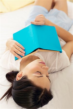 Woman Sleeping with Book Stock Photo - Rights-Managed, Code: 700-00787008