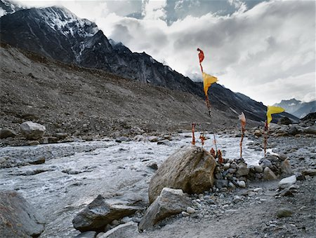 david zimmerman - Prayer Flags at the Source of the Ganges River, Himalayas, Gaumukh, India Stock Photo - Rights-Managed, Code: 700-00847481
