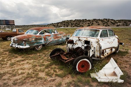 david zimmerman - Abandoned Cars, Bluewater, New Mexico, USA Stock Photo - Rights-Managed, Code: 700-00847494