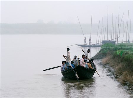 david zimmerman - Boat on the Ganges River, West Bengal, India Stock Photo - Rights-Managed, Code: 700-00847500