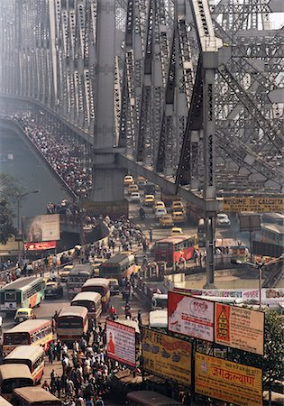 david zimmerman - Rush Hour Over Howrah Bridge, Calcutta, India Stock Photo - Rights-Managed, Code: 700-00847545