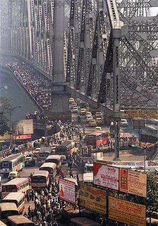david zimmerman - Rush Hour Over Howrah Bridge, Calcutta, India Stock Photo - Rights-Managed, Code: 700-00847545