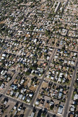 david zimmerman - Aerial View of Suburbs Outside Of Albuquerque, New Mexico, USA Stock Photo - Rights-Managed, Code: 700-00847540