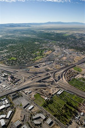 david zimmerman - Aerial View of Highways 25 and 40, Albuquerque, New Mexico, USA Stock Photo - Rights-Managed, Code: 700-00847541